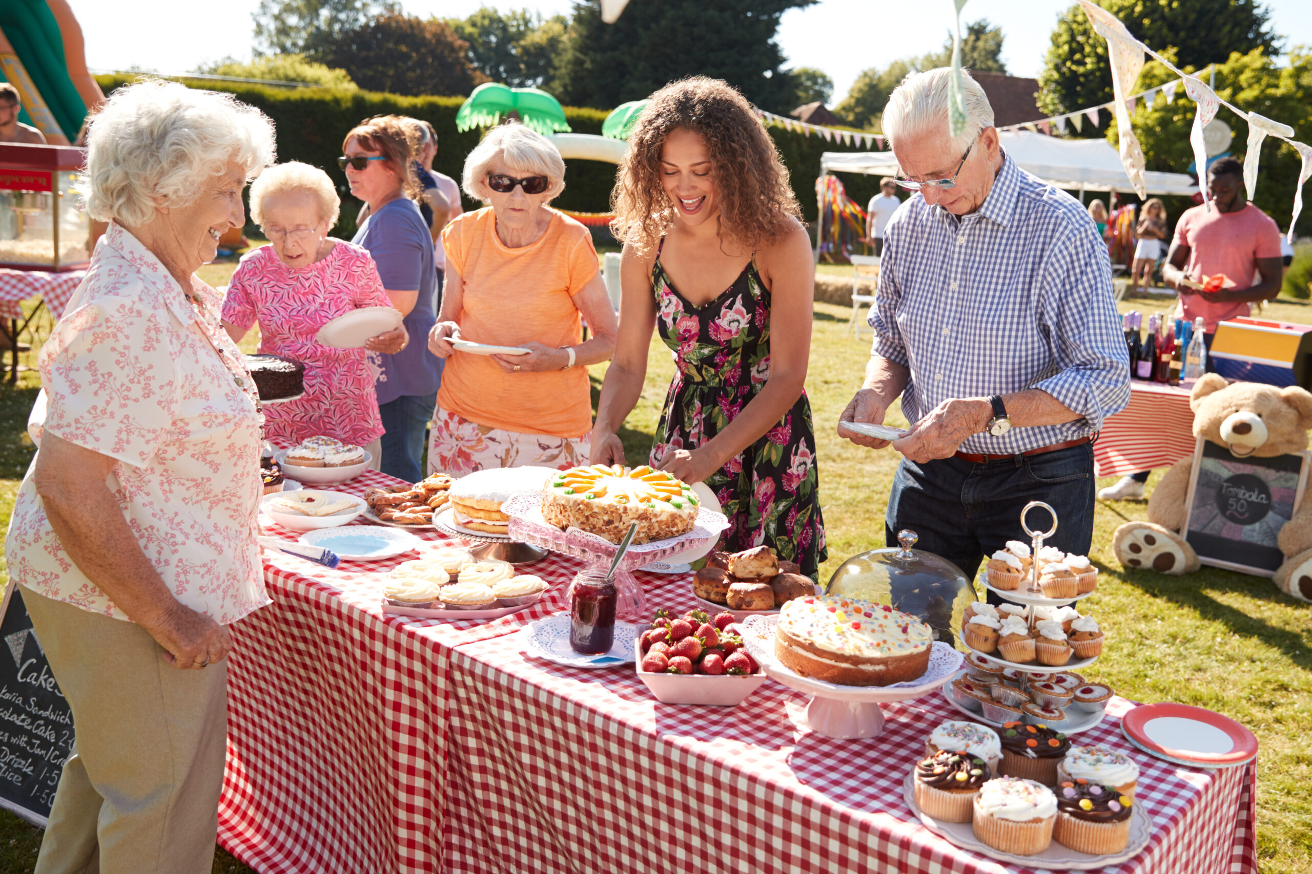 cake stall at fundraising event