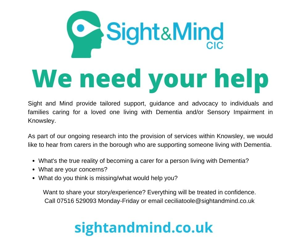 Sight and Mind survey for people caring for a loved one with dementia